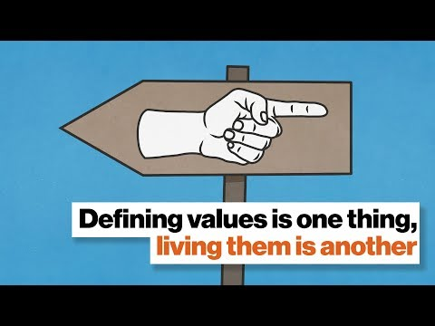 Defining values is one thing, living them is another   Aaron Hurst