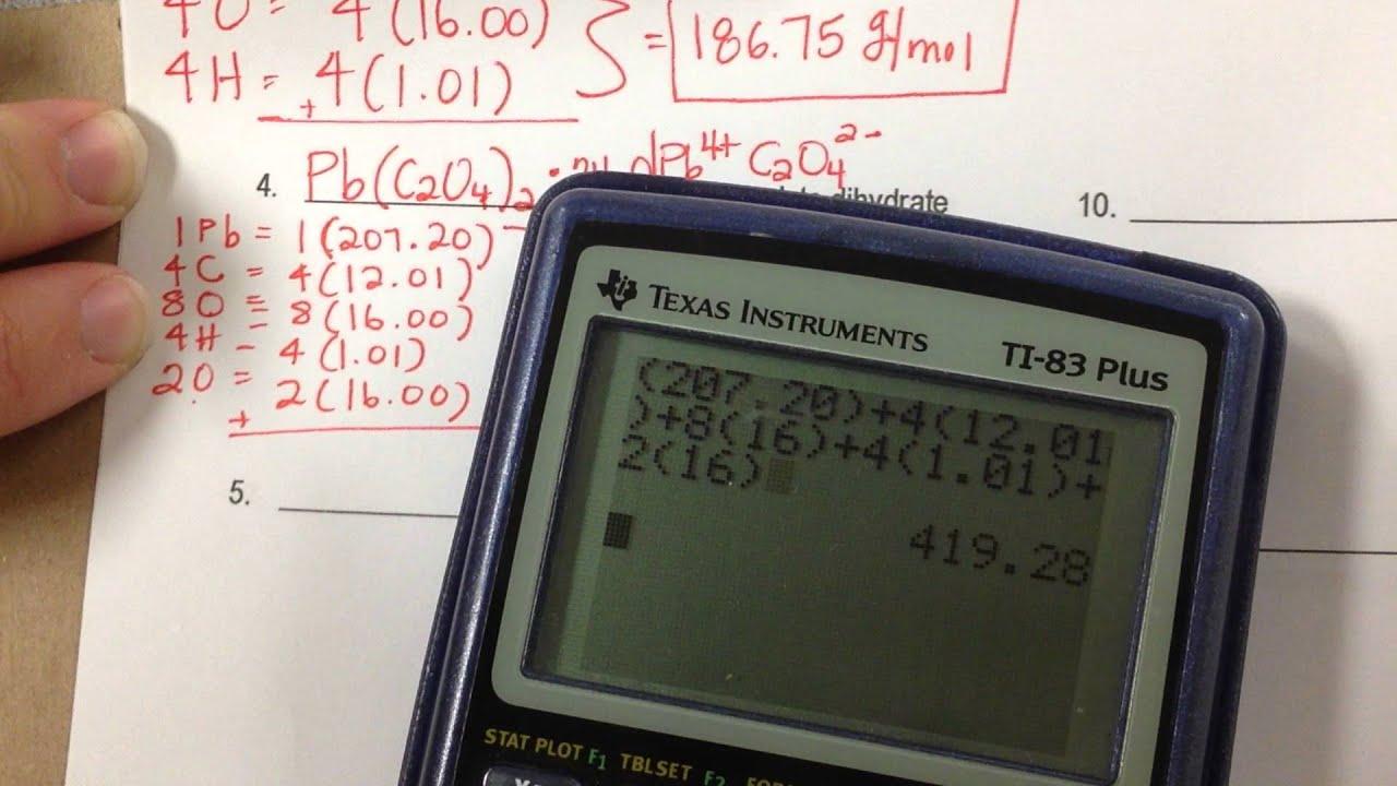 Calculating Formulamolecular Mass Worksheet Key Youtube