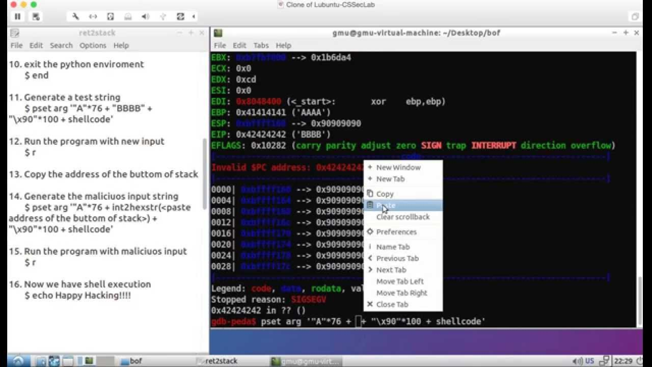 Return to Stack Exploit: Shell Execution using Stack Buffer Overflow