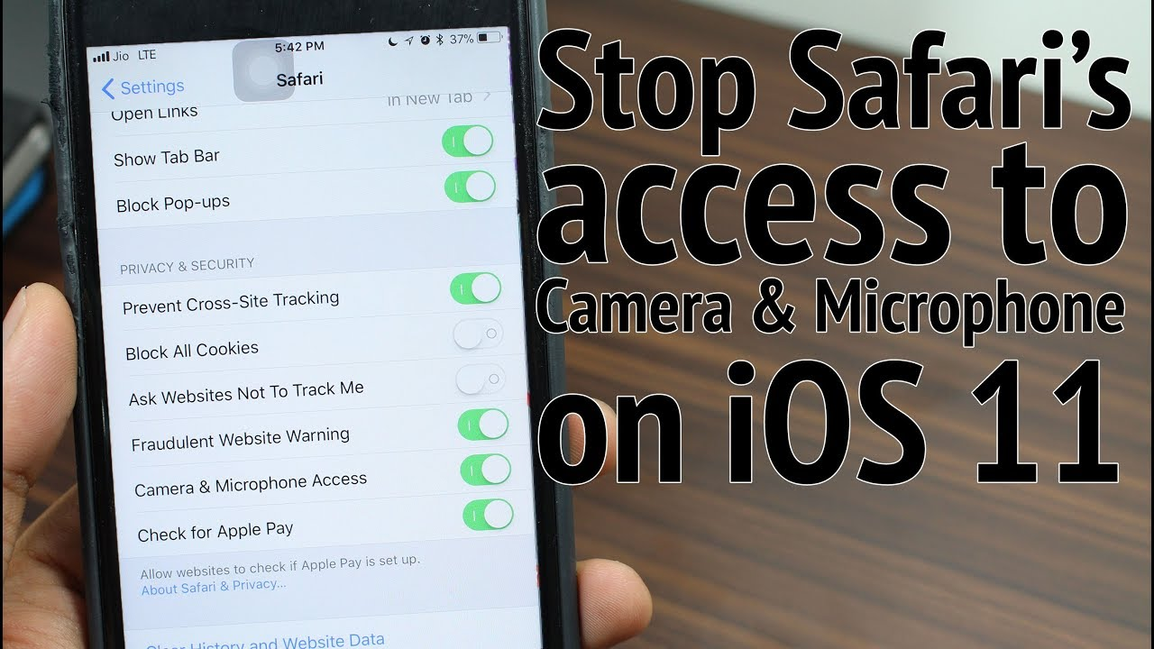 Stop Safari from Accessing iPhone's Camera and Microphone in