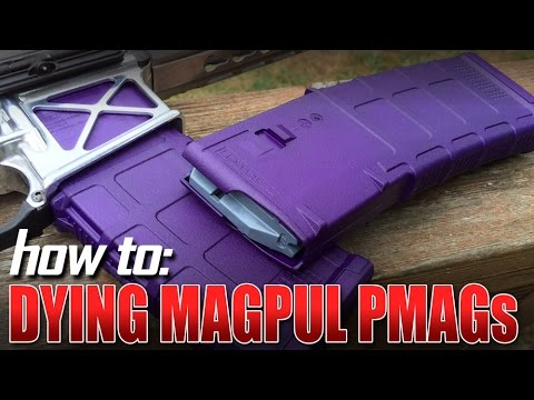 How to - Dying Sand colored Magpul PMAG's with RIT Dye