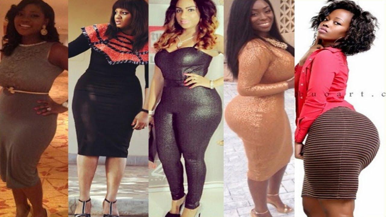 Big round ebony butts