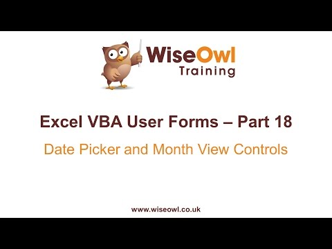 Excel VBA Forms Part 18 - Installing the Date Time Picker and Month View Controls