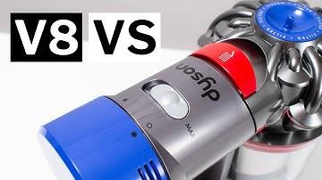 Dyson V8 Absolute против животного против Motorhead