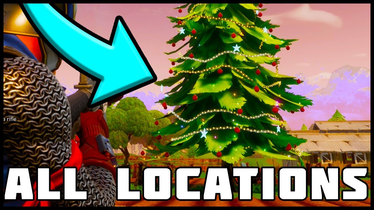 All Christmas Tree Locations Fortnite Battle Royale Youtube