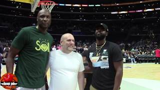 Dwyane Wade Reunites With Lamar Odom, Talks The Big 3, & His NBA Off Season. HoopJab