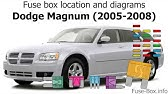 Chrysler 300 300c And Dodge Charger Magnum 2005 2010 Fuse Box Diagrams Youtube