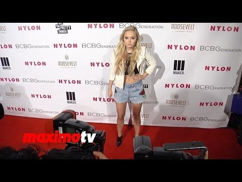 Mia Rose Frampton NYLON & BCBGeneration Young Hollywood Party Red Carpet