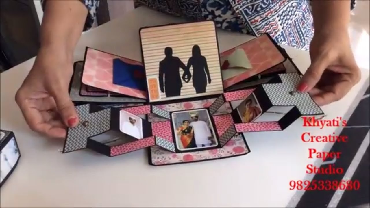 Third Wedding Anniversary Gift Ideas For Husband: Cutest Anniversary Gift Idea/Romantic Explosion Box