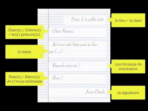 Ecrire une lettre amicale