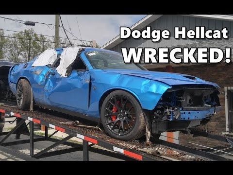 Dodge Challenger Hellcat Wrecked After Only 18 Miles - YouTube