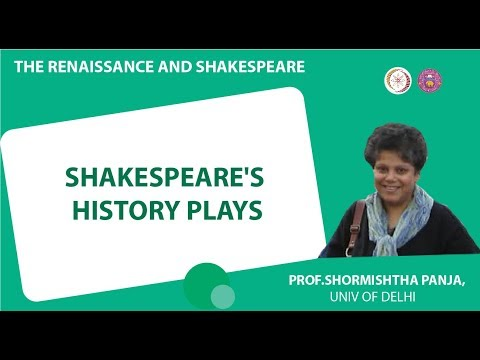 3 1 Shakespeare's History Plays by Prof  R W  Desai