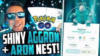 Pokemon Go - SHINY AGGRON + I Found an ARON NEST! (Pokemon Go NEW Gen 3 Pokemon!)