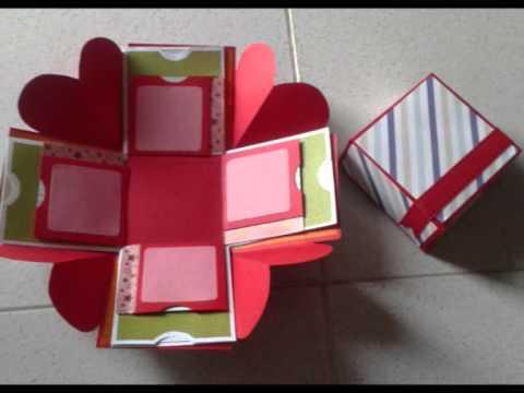 Caja explosiva regalo youtube for Cajas personalizadas con fotos