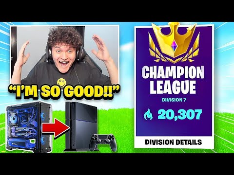 I Switched From PC To PS4 For 24 Hours (Fortnite Challenge)