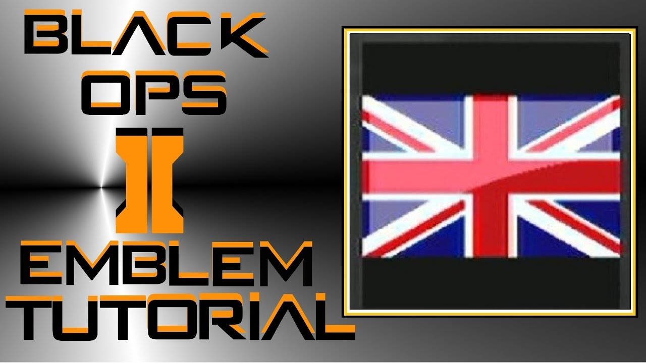 call of duty black ops 2 union jack flag emblem tutorial youtube