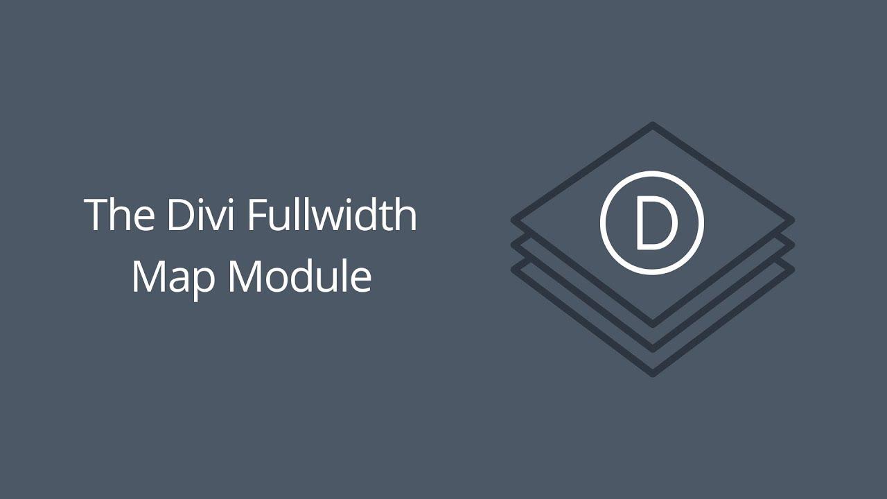 The divi fullwidth map module youtube - Divi map module ...