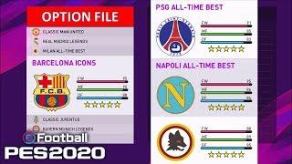 League Full of Classic teams PS4 FREE Option File
