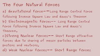 A to Z in Physics, Natural Forces