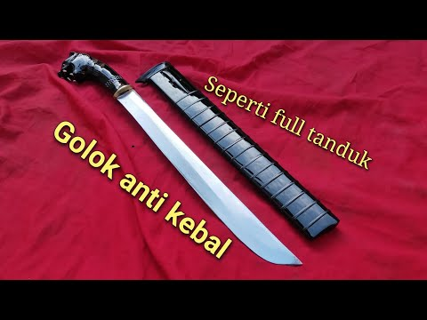 Golok Full Hitam Anti Kebal