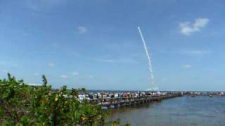 Atlantis Space Shuttle launch view from Titusville. STS-132 15th May 2010