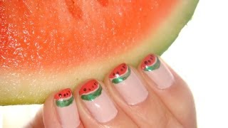 Fun French Watermelon Tip Nail Tutorial For Short Nails Using China Glaze, Opi