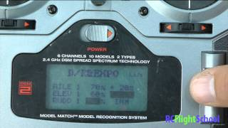 How To Set Dual Rate & Expo For RC Plane DX6i