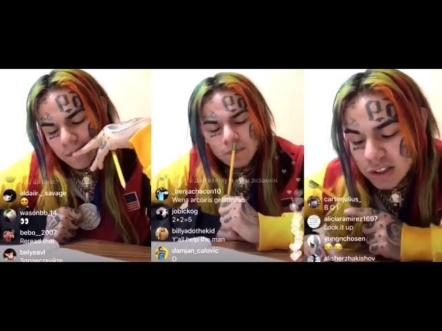 6ix9ine prepares fans for the possibility of being sent to Prison tomorrow for 3 YEARS over his GED!