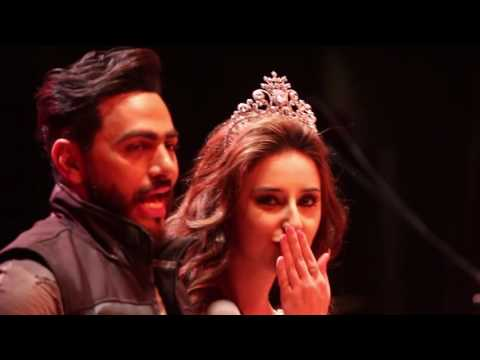 Miss Arab USA presenting Hona Radio USA award to Tamer Hosny in Los Angeles