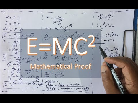 E=MC^2 : Mathematical derivation of Mass-Energy equivalence equation.