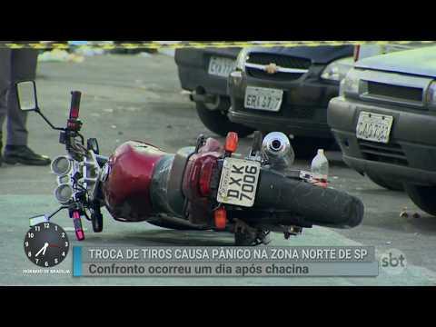 Após chacina, polícia troca tiros com traficantes na zona norte de SP | SBT Brasil (21/07/18)