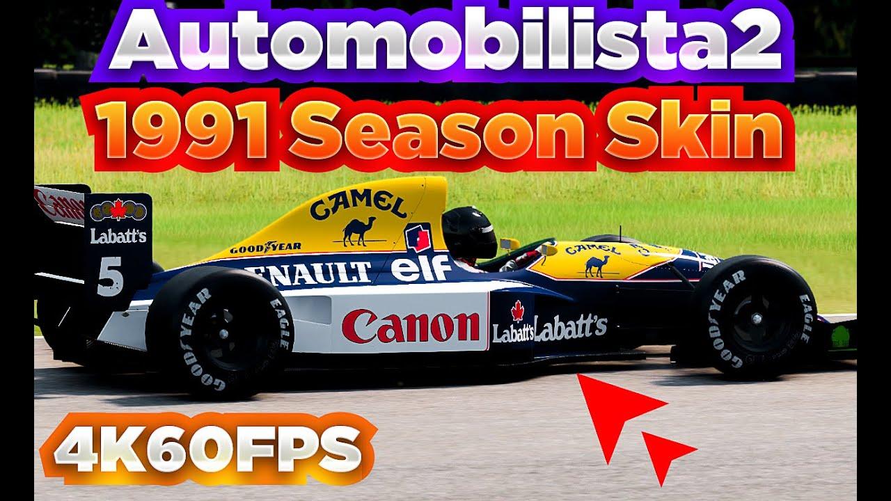 F1 1991 Season Skins Mod Automobilista 2