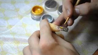 Как сделать Жидкие камни на ногтях