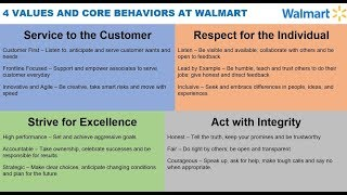 4 VALUES AND CORE BEHAVIORS AT WALMART via Doug McMillon