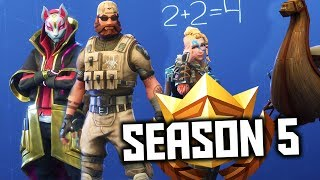 Fortnite Season 5: Reacting to ALL Battle Pass Rewards Skins, Sprays, TOYS, and Tools!