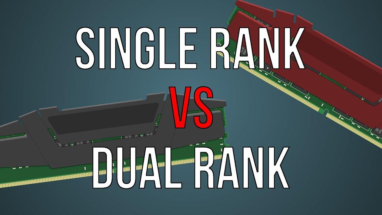 single dual rank memory