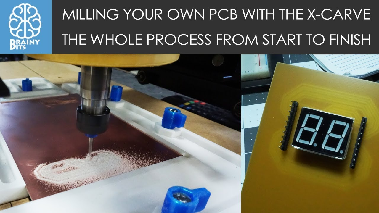 Milling Your Own Pcb At Home With A Cnc Router Youtube Heavy Duty Printed Circuit Board Cutting Machine