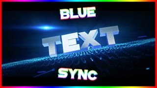 Intro - Blender/AE Sync Blue Intro Template (#16) [All Names Work]