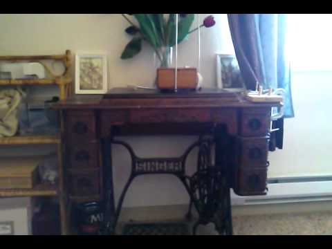 how to use a treadle sewing machine