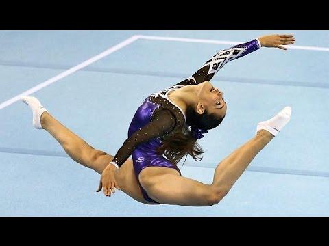 Farah Ann Abd Hadi Sexy Malaysia Gymnastic Slow Motion
