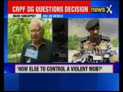 CRPF DG questions banning of Pellet guns