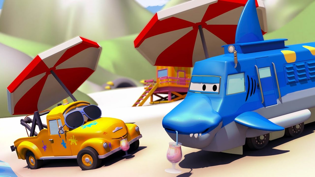 tom-the-tow-truck-s-paint-shop-troy-is-a-shark-truck-cartoons-for-kids