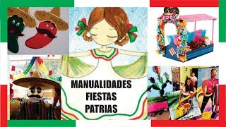 Manualidades para Fiestas Patrias Mexicanas 2019