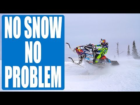 SNOWMOBILE HACK / HOW LEVI LAVALLEE RIDES BEFORE SNOW SEASON