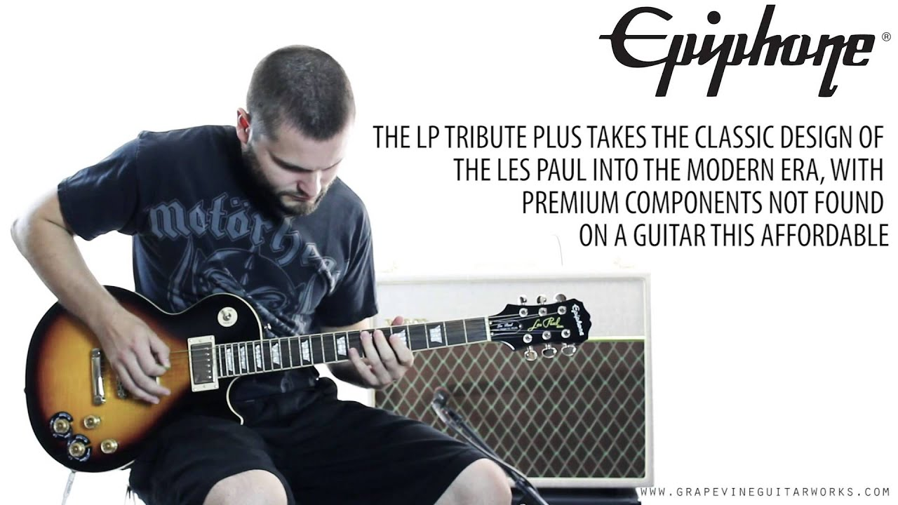epiphone les paul tribute plus electric guitar vintage sunburst youtube. Black Bedroom Furniture Sets. Home Design Ideas