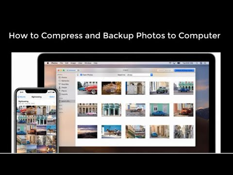 How to backup and compress photos on iPhone?