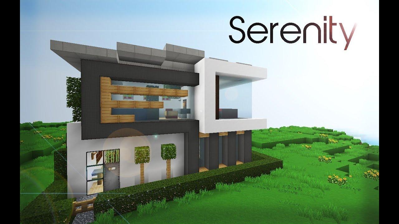 Présentation d'une maison moderne (minecraft)   youtube