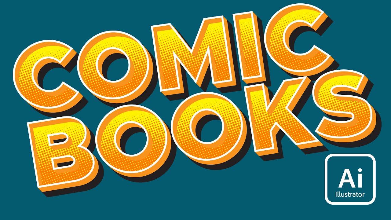 Create Comic Book Text In Illustrator Youtube