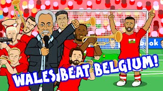 Wales vs Belgium by TOM JONES! (3-1 Euro 2016 Quarter Final)(Robson-Kanu Cruyff goal Vokes Williams)