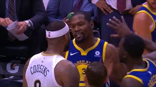 KEVIN DURANT GETS EJECTED AGAIN AND STEPH CURRY INJURES ANKLE WARRIORS VS PELICANS